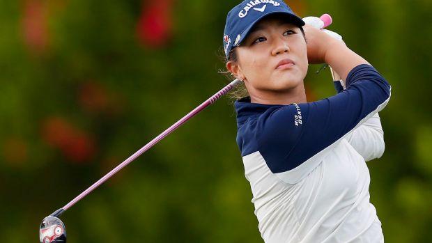 Lydia playing golf