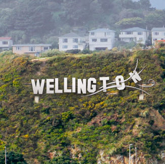 301011. News. Photo. supplied to DominionPost. Airport sign design ideas. Wellywood or What competition. Wellington Blown Away.